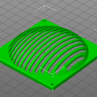 3D Modell Abdeckung für 80mm Lüfter