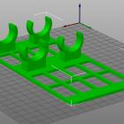 3D Modell 2fach Halter für Heizstäbe