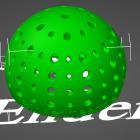 3D Modell Futter-Ei mit 2mm und 3mm Löchern