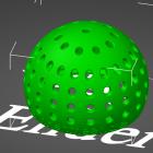 3D Modell Futter-Ei mit 3mm Löchern