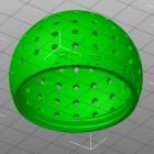 3D Modell Futter-Ei von unten