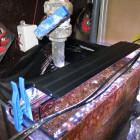Wasserkühlung unten (schräg hinter der Algenlampe)